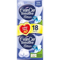 EveryDay Σερβιέτες Sensitive Cotton Ultra Plus Super 18τεμ