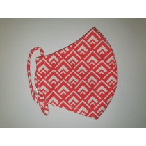 Fashy Υφασμάτινη Μάσκα Χρωματιστή Ενηλίκων (5811) - Red Lines
