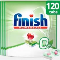 Finish Απορρυπαντικό Πλυντηρίου Πιάτων σε Ταμπλέτες 0% 3x40τμχ