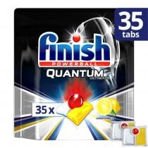 Finish Απορρυπαντικό Πλυντηρίου Πιάτων σε Ταμπλέτες Quantum Ultimate Λεμόνι 35τμχ