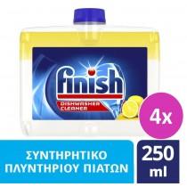 Finish Καθαριστικό Πλυντηρίου Πιάτων Λεμόνι 4x250ml