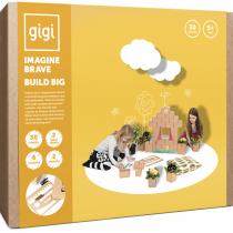 Gigi Χαρτονένια Μεγάλα Τουβλάκια 30τμχ Χτίζω και Δημιουργώ