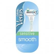 Gillette Venus Smooth Sensitive Γυναικεία Ξυριστική Μηχανή & 1 Ανταλλακτικό