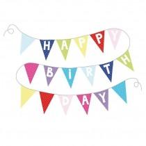 Jabadabado Γιρλάντα Happy Birthday με Χρωματιστά γράμματα