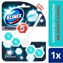 Klinex WC Block Power 5 με Ενεργό Χλώριο 55gr