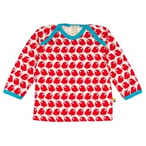 Loud+Proud Μακρυμάνικη Μπλούζα από Οργανικό Βαμβάκι με Πουλάκια 6-12 μηνών