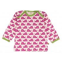 Loud+Proud Μακρυμάνικη Μπλούζα από Οργανικό Βαμβάκι με Σαλιγκάρια Φούξια 2-4 ετών