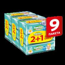 Μωρομάντηλα BabyCare Fresh Pure Water 3x189τμχ 2+1 ΔΩΡΟ (567 τεμάχια)