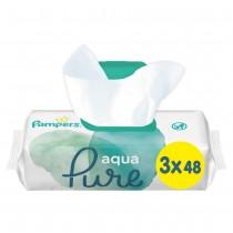 Μωρομάντηλα Pampers Aqua Pure 144τμχ (3x48)