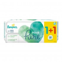 Μωρομάντηλα Pampers Aqua Pure 96τμχ 1+1 Δώρο (2x48τμχ)
