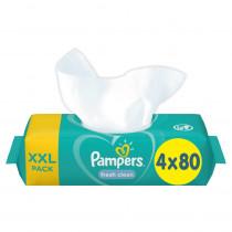 Μωρομάντηλα Pampers Fresh Clean 320τμχ (4x80τμχ)