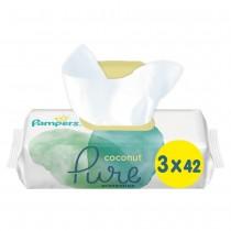 Μωρομάντηλα Pampers Pure Coconut 126τμχ (3x42)