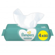 Μωρομάντηλα Pampers Sensitive 320τμχ (4x80τμχ)