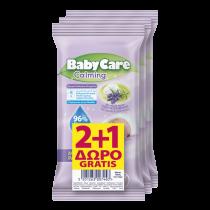 Μωρομάντηλα BabyCare Mini Pack Calming 36τμχ (3x16τμχ) 2+1 ΔΩΡΟ