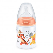 NUK Μπιμπερό First Choice Plus Winnie με Θηλή Σιλικόνης 150ml Πορτοκαλί