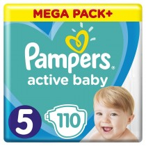 Πάνες Pampers Active Baby Νο 5 Mega Box 110τμχ (11-18kg)