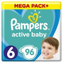 Πάνες Pampers Active Baby Νο 6 Mega Box 96τμχ (13-18kg)
