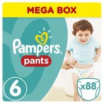 Πάνες Βρακάκι Pampers Pants Mega Box 88τμχ Νο 6 (16+kg)