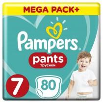 Πάνες Βρακάκι Pampers Pants Νο 7 Mega Box 80τμχ (17+kg)