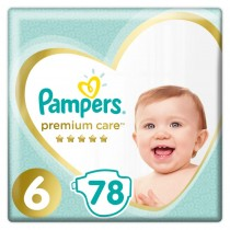 Πάνες Pampers Premium Care Νο 6 Mega Pack 78τμχ (13+kg)
