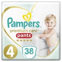 Πάνες Βρακάκι Pampers Premium Care Pants Νο 4 Jumbo Pack 38τμχ (9-15kg)