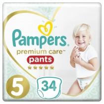 Πάνες Βρακάκι Pampers Premium Care Pants Νο 5 Jumbo Pack 34τμχ (12-17+kg)