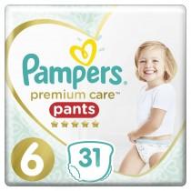Πάνες Βρακάκι Pampers Premium Care Pants Νο 6 Jumbo Pack 31τμχ (15+kg)