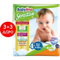 Πάνες Babylino Sensitive No4+ (9-20Kg) Carry Pack 6x19τμχ (114τμχ)