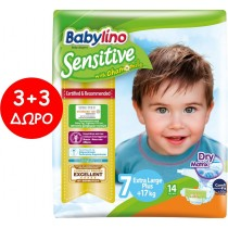 Πάνες Babylino Sensitive No7 (17+Kg) Carry Pack 6x14τμχ (84τμχ)