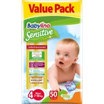 Πάνες Babylino Sensitive No4 (7-18Kg) Value Pack 50τμχ