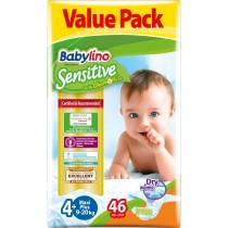 Πάνες Babylino Sensitive No4+ (9-20Kg) Value Pack 46τμχ
