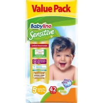 Πάνες Babylino Sensitive No5+ (13-27Kg) Value Pack 42τμχ