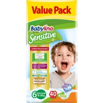 Πάνες Babylino Sensitive No6 (15-30Kg) Value Pack 40τμχ