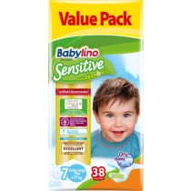 Πάνες Babylino Sensitive No7 (17+Kg) Value Pack 38τμχ