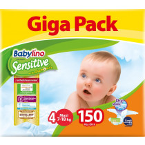 Πάνες Babylino Sensitive No4 (7-18Kg) Giga Pack 150τμχ