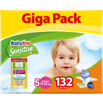 Πάνες Babylino Sensitive No5 (11-25Kg) Giga Pack 132τμχ