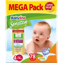 Πάνες Babylino Sensitive Mega Pack No4 (7-18Kg) 78τμχ