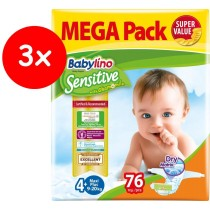 Πάνες Babylino Sensitive No4+ (9-20Kg) Mega Pack 3x76τμχ