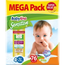Πάνες Babylino Sensitive Mega Pack No4+ (9-20Kg) 76τμχ