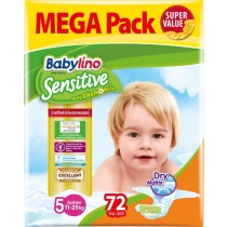 Πάνες Babylino Sensitive Mega Pack No5 (11-25Kg) 72τμχ