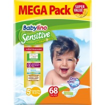 Πάνες Babylino Sensitive Mega Pack No5+ (13-27Kg) 68τμχ