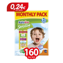 Πάνες Babylino Sensitive Monthly Pack No6 (15-30Kg) 160τμχ