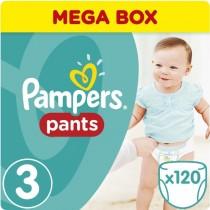 Πάνες Βρακάκι Pampers Pants Νο 3 Mega Pack 120τμχ (6-11kg)