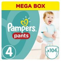 Πάνες Βρακάκι Pampers Pants Νο 4 Mega Box 104τμχ (9-14kg)