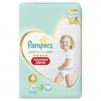 Πάνες Βρακάκι Pampers Premium Care Pants Νο 6 Jumbo Pack 42τμχ (15+kg)