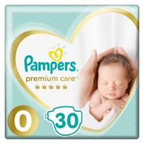 Πάνες Pampers Premium Care Νο 0 Micro 30τμχ (>2,5kg)