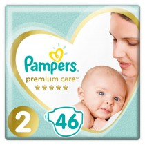Πάνες Pampers Premium Care Νο 2 Value Pack 46τμχ (4-8kg)