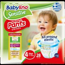 Πάνες Βρακάκι Babylino Pants No4 Carry Pack 28τμχ (7-13Kg)