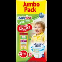 Πάνες Βρακάκι Babylino Pants No4 Jumbo Pack 50τμχ (7-13Kg)