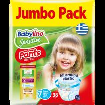Πάνες Βρακάκι Babylino Pants No7 Jumbo Pack 38τμχ (17+Kg)